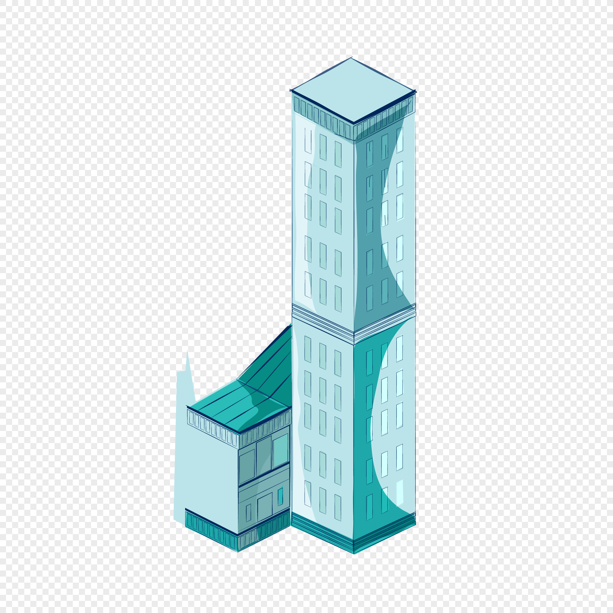 2020x2020 High Rise Building Vector Png Image Picture Free Download