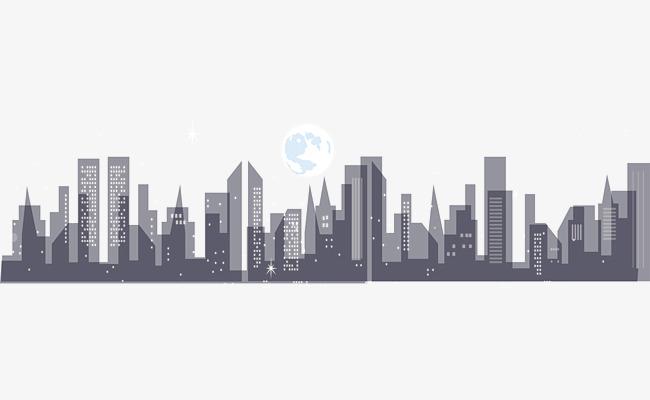 650x400 Night City Building Vector, Vector, Vector Architecture, Vector