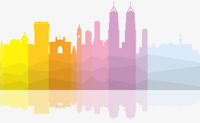 650x400 Vector Color Gradient Flat Building, City, Building, House Png And