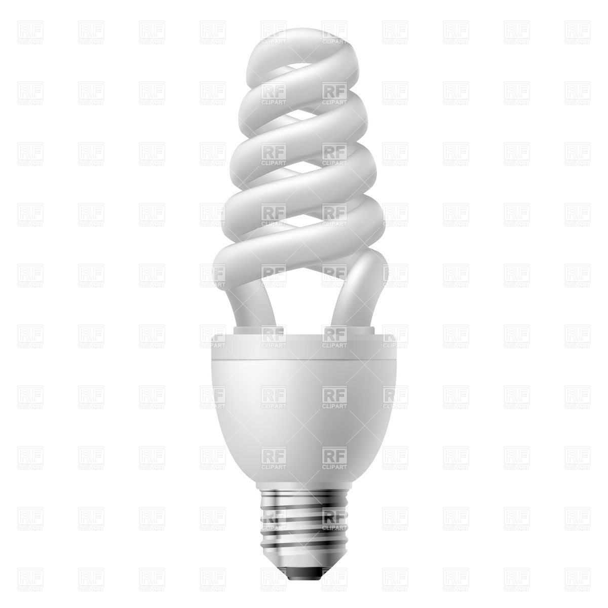 1200x1200 Cone Energy Saving Compact Fluorescent Light Bulb Vector Image