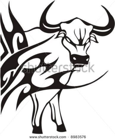 387x470 Tribal Bull