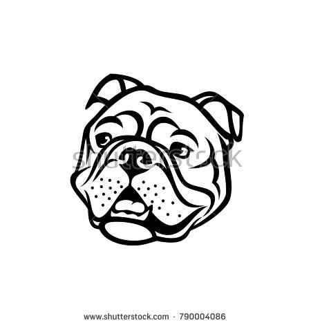 450x470 Collection Of Bulldog Drawing Face High Quality, Free