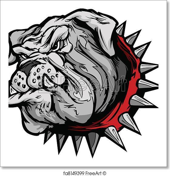 561x581 Free Art Print Of Bulldog Cartoon Face Vector Illustr. Cartoon