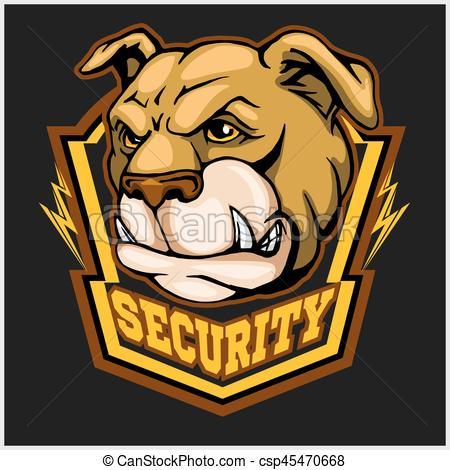 450x470 Bulldog Head Mascot