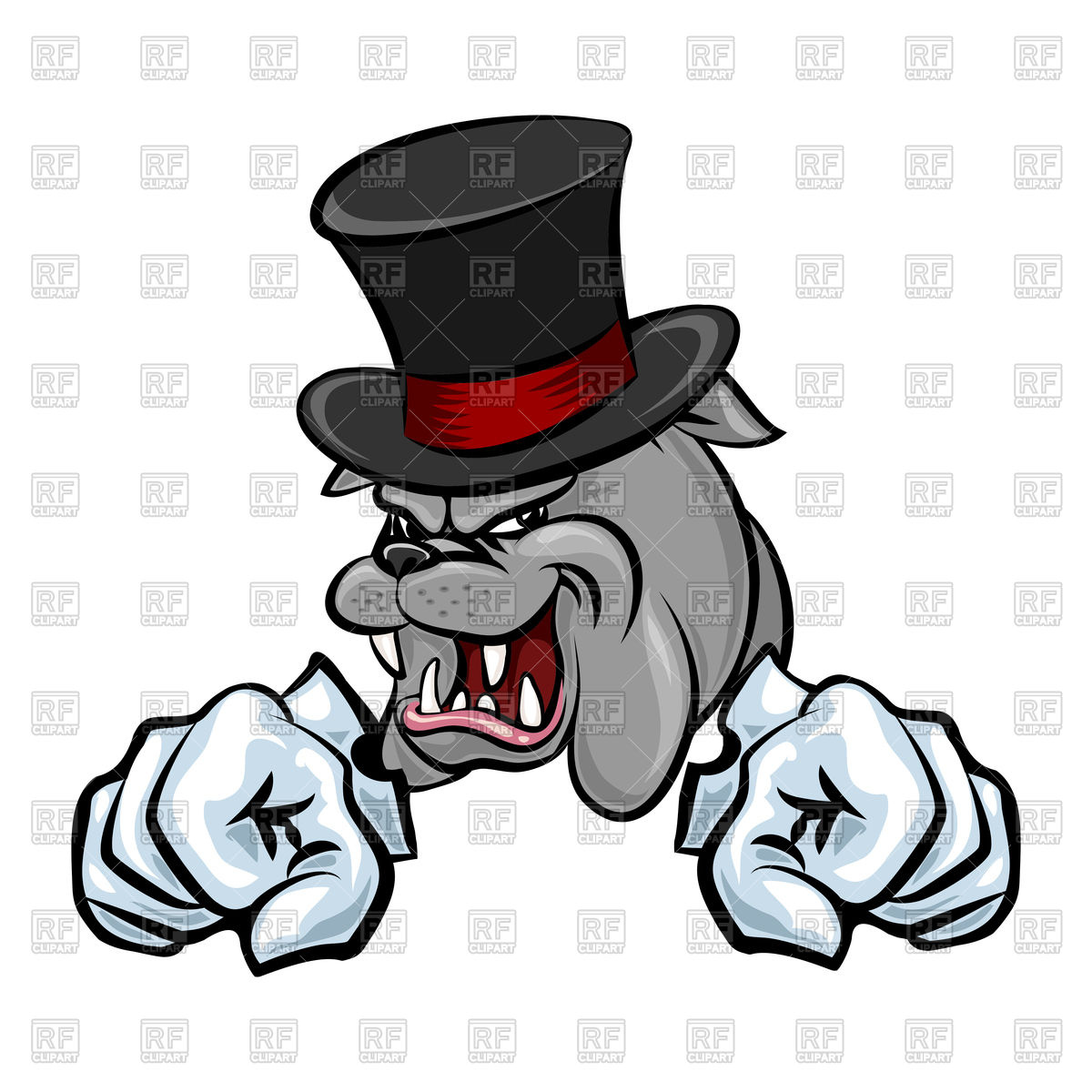 1200x1200 Bulldog In Hat And Paws In Gloves