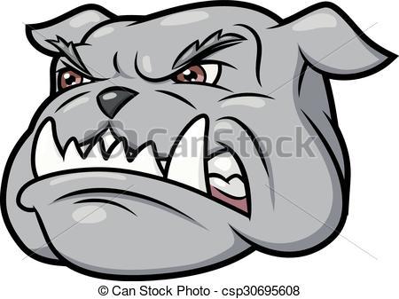 450x337 Aggressive Bulldog 3. Illustration Of The Furious Aggressive