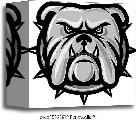 443x390 Canvas Print Of Bulldog Head Barewalls Posters Amp Prints