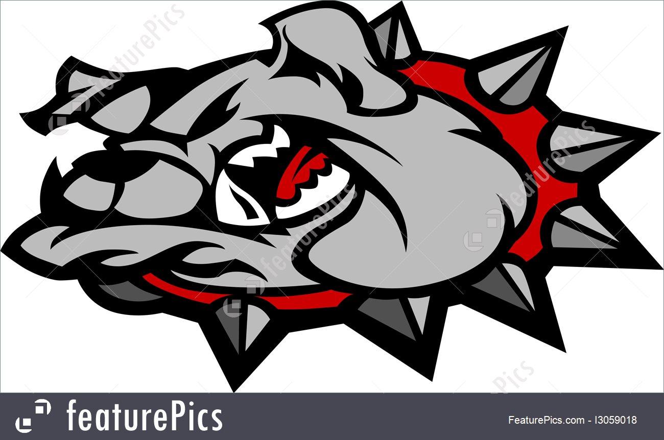 1300x862 Pets Bulldog Mascot Head Vector