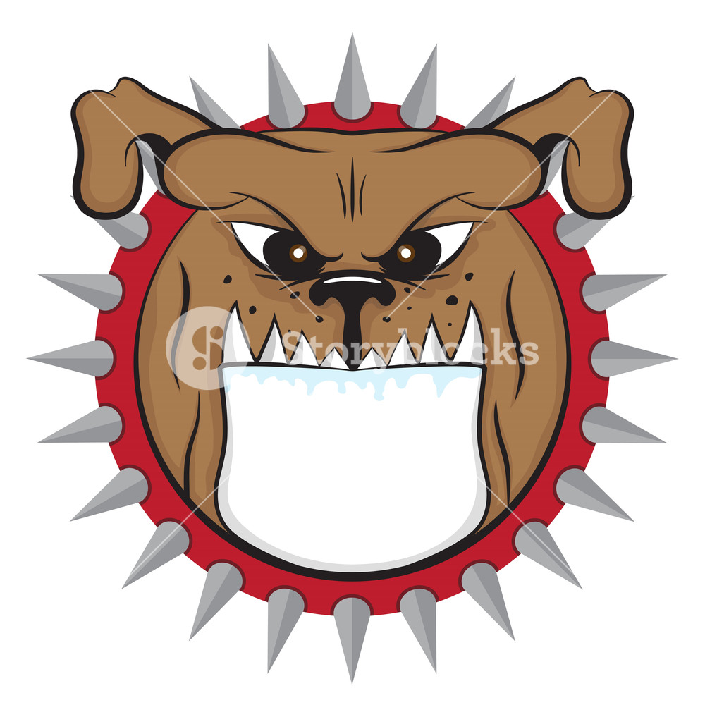 1000x1000 Cartoon Bulldog Head Vector Animal Icon Illsutation Royalty Free