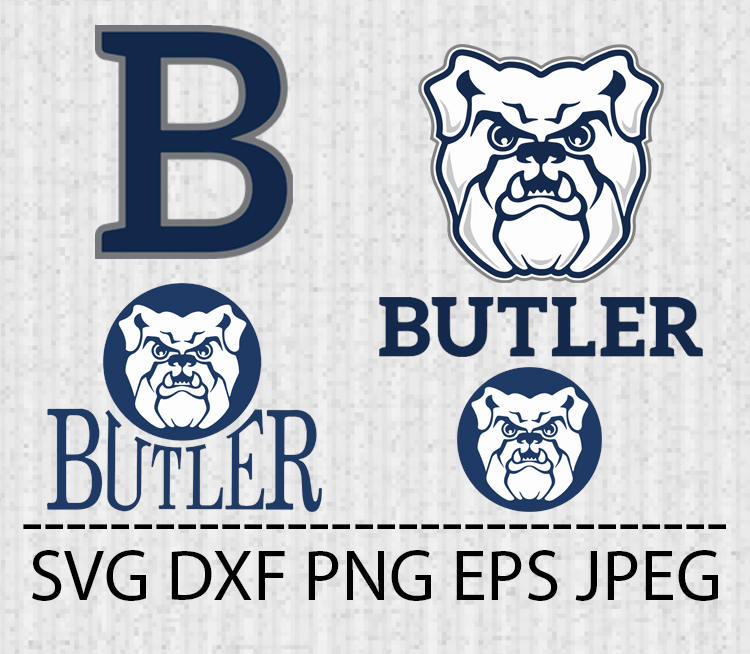 750x654 Svg Butler Bulldogs Logo Vector Layered Cut File Silhouette Etsy