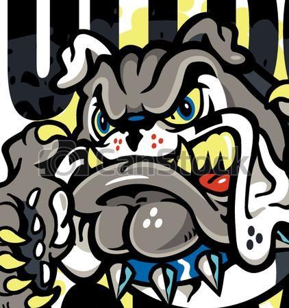 422x450 Eps Vector Of Bulldog Football Team Design With Bulldog Mascot And