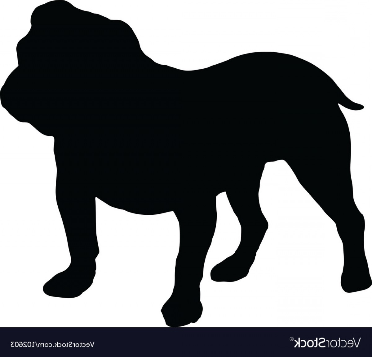 1200x1154 Silhouette Of An English Bulldog Vector Arenawp