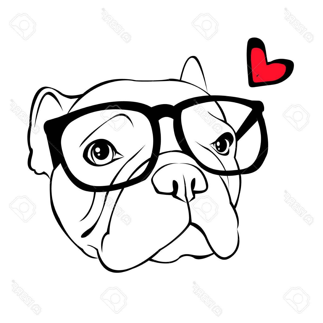 1300x1300 Best French Bulldog Vector Illustration For Poster Cute Puppy Dog
