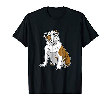 385x360 Cute English Bulldog Vector Art T Shirt Bulldog Lovers