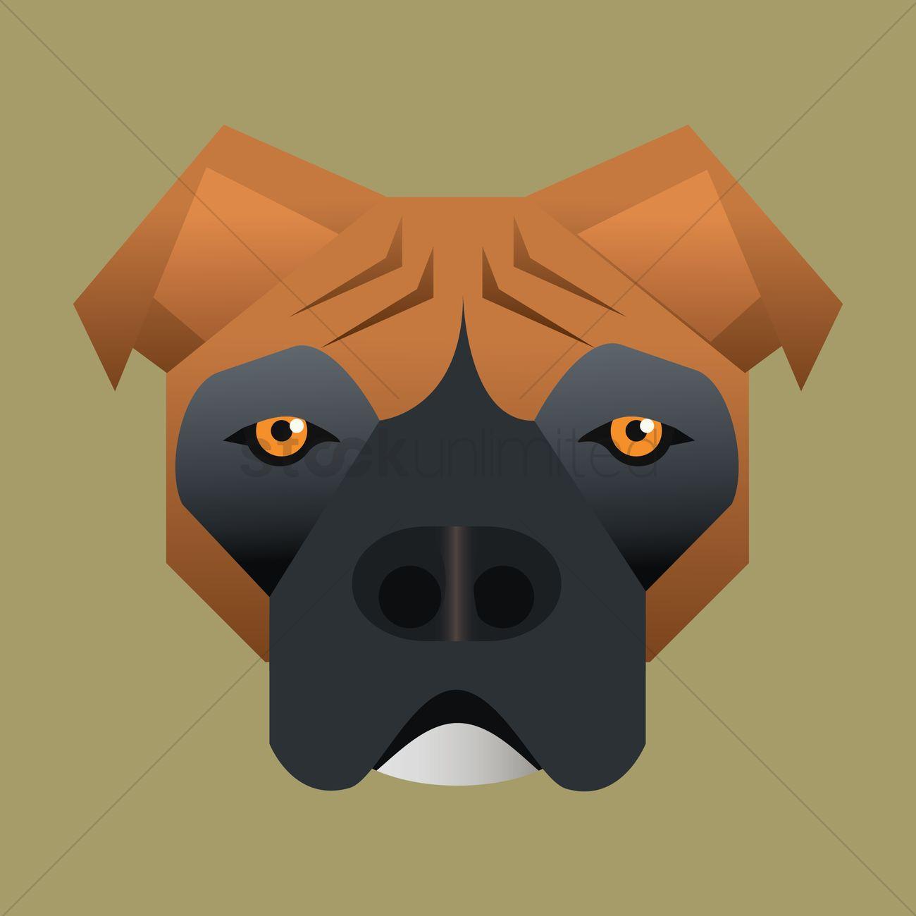 1300x1300 Free Bulldog Vector Image