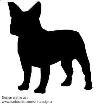 335x355 French Bulldog Clipart Black And White