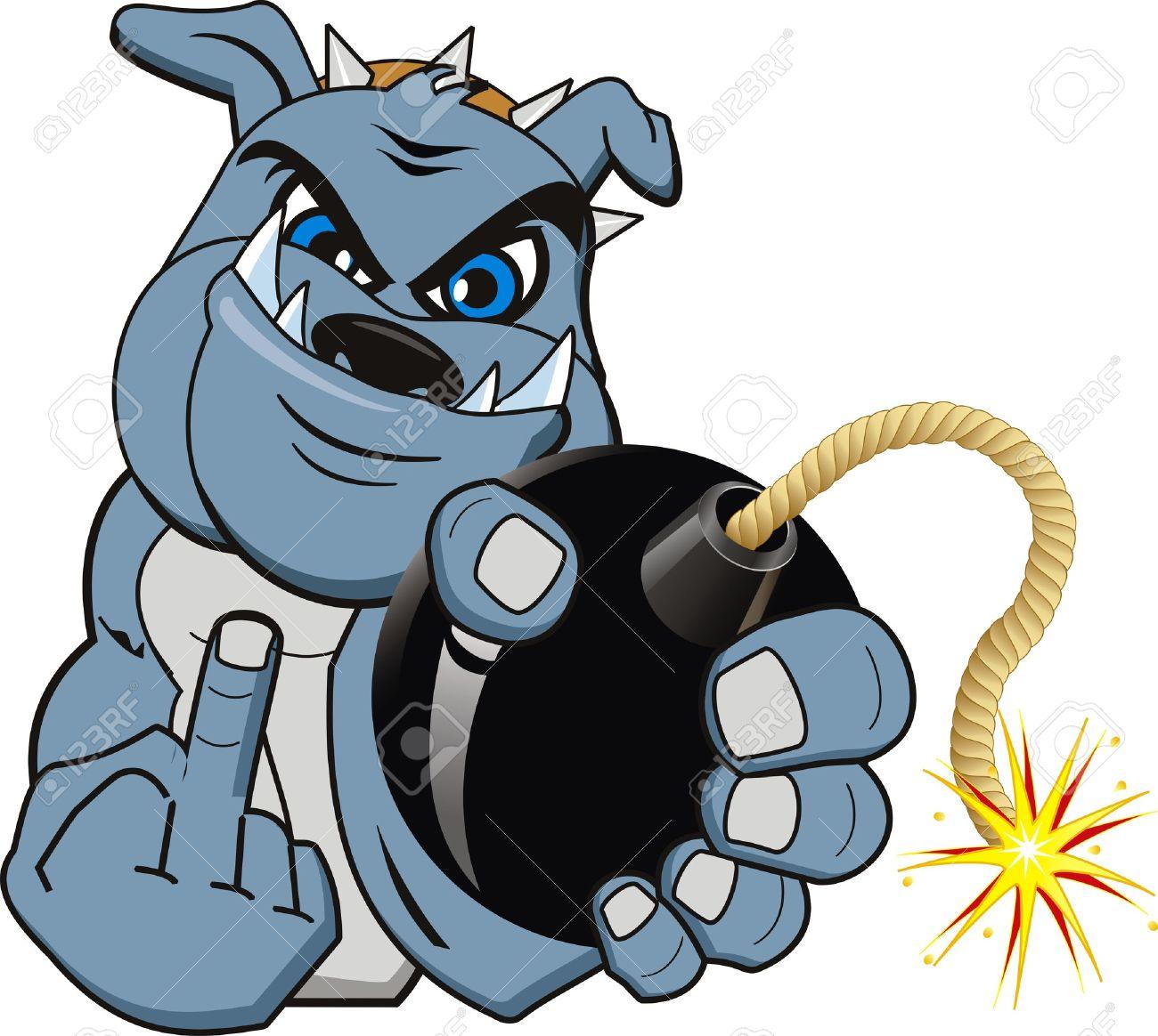 1300x1164 Growling Bulldog Vector Art Thinkstock
