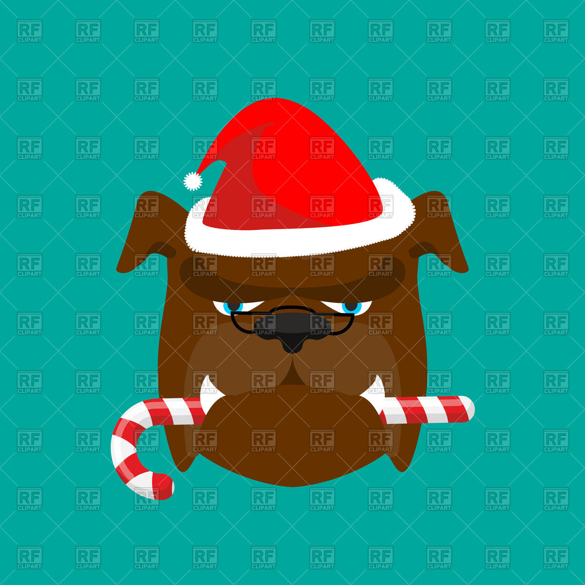 1200x1200 Santa Dog And Candy Cane