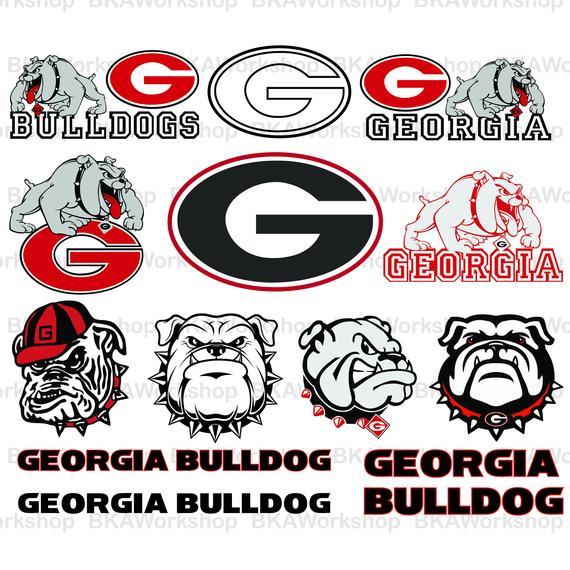 570x570 Georgia Bulldog Svg Georgia Bulldog Vector Georgia Etsy