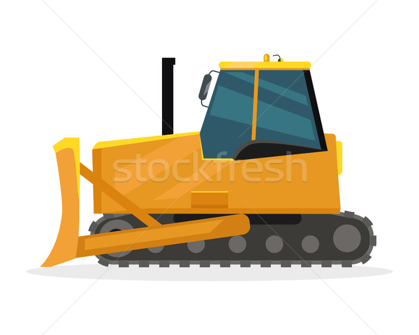 600x480 Bulldozer Vector Illustration In Flat Design Vector Illustration