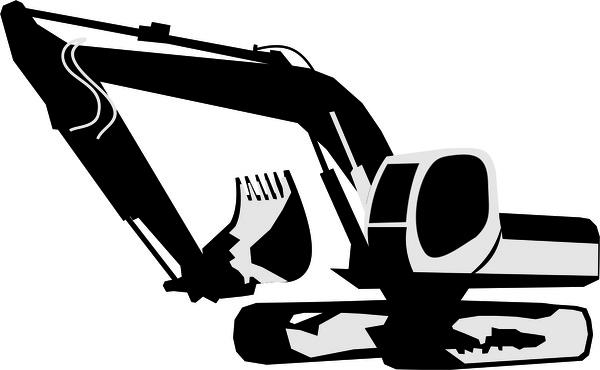 600x370 Excavator Free Vector In Encapsulated Postscript Eps ( .eps