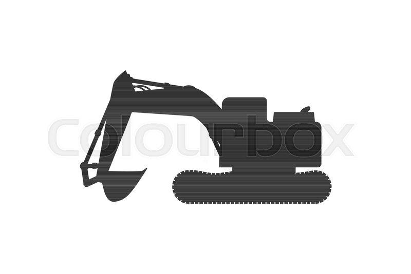 800x534 Grunge Tractor Heavy Bulldozer Vector Stock Vector Colourbox