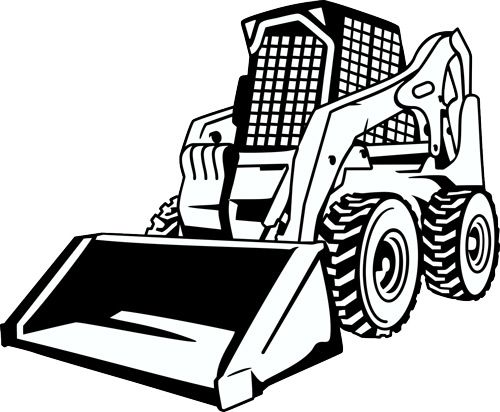 500x412 Heavy Equipment Bulldozer Vector Clip Art Equipment Dozer Clipart