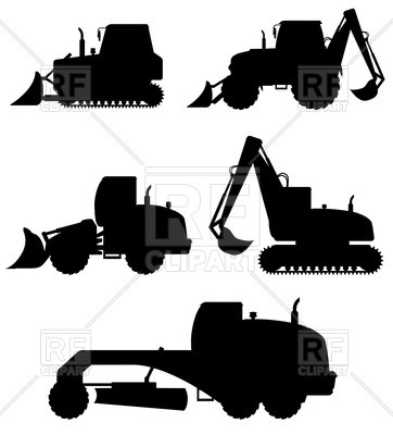 362x400 Silhouette Of Construction Work Machinery