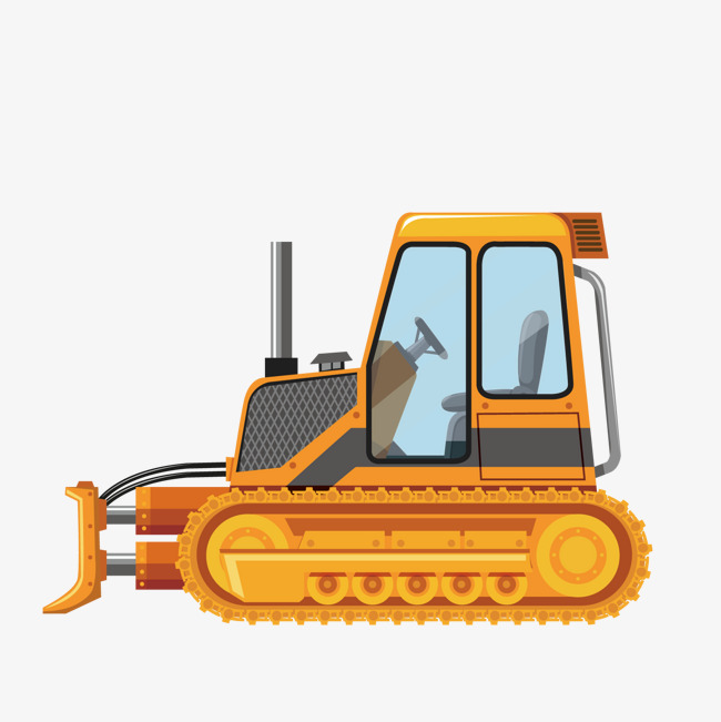 650x651 Vector Bulldozer, Yellow, Engineering Vehicles, Decoration Png And
