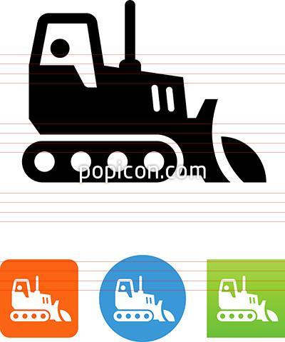 400x479 Vector Bulldozer Icon