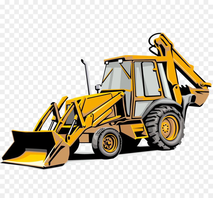900x840 Backhoe Loader Sticker Heavy Equipment Excavator