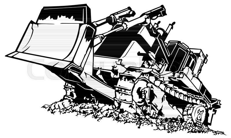 800x478 Black And White Bulldozer