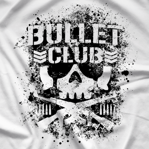 500x500 New Japan Pro Wrestling Bullet Club White T Shirt