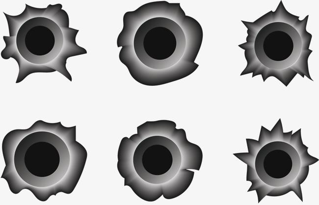 650x418 Metal Bullet Hole, Bullet Vector, Metallic, Vector Bullet Holes