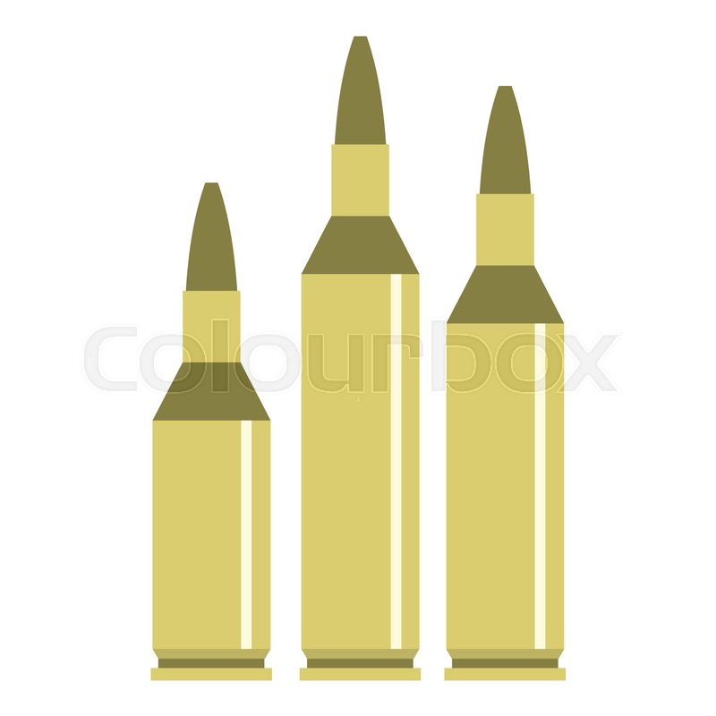 800x800 Bullet Ammunition Icon. Flat Illustration Of Bullet Vector Icon