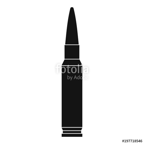 500x500 Small Bullet Icon. Simple Illustration Of Small Bullet Vector Icon