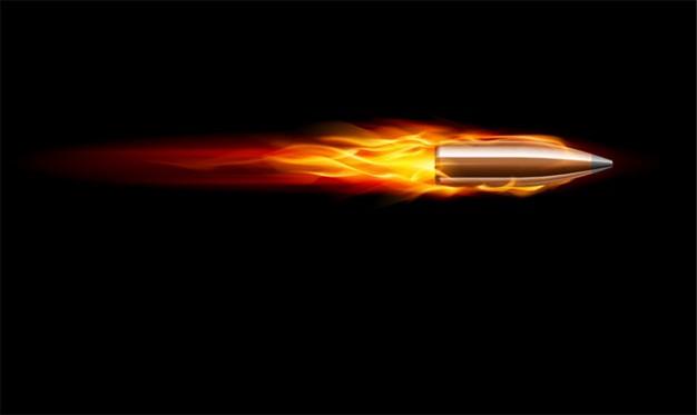 626x373 Bullet Vector. Bullet In Fire. Vector Free Download