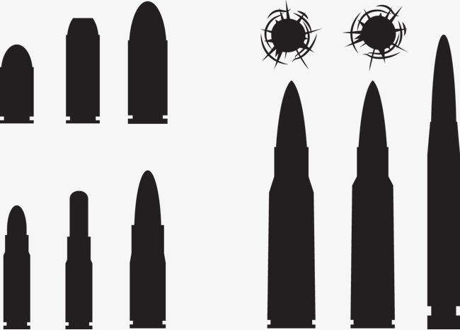 650x466 Black Bullets And Bullet Holes, Black Vector, Bullet Vector, Black