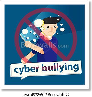 362x382 Art Print Of Cyber Bullying Boy Background Graphic Vector