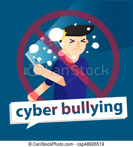 425x470 Cyber Bullying Boy Background Graphic Vector Illustrations. Cyber