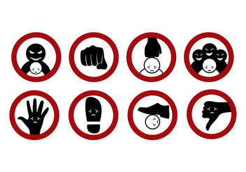 352x247 Free Bullying Sign Sticker Vectors Free Vector Download 384855