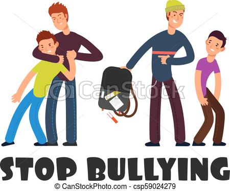 450x374 Stop Bullying Concept. Sad Helpless Kid. Negative Persons And