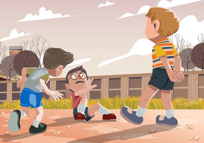 700x490 Vector Kid Bullying While Playing