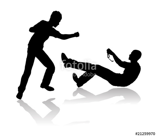 500x438 Bullying Scene Silhouette Stock Image And Royalty Free Vector