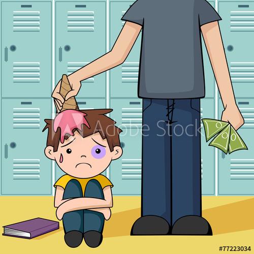 500x500 Bullying, Vector Illustration