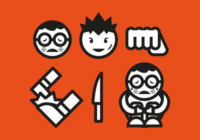 700x490 Bullying Icons Vector
