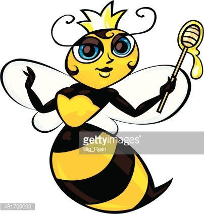 404x424 Cartoon Queen Bee Drawing Queen Bees, Vector Art