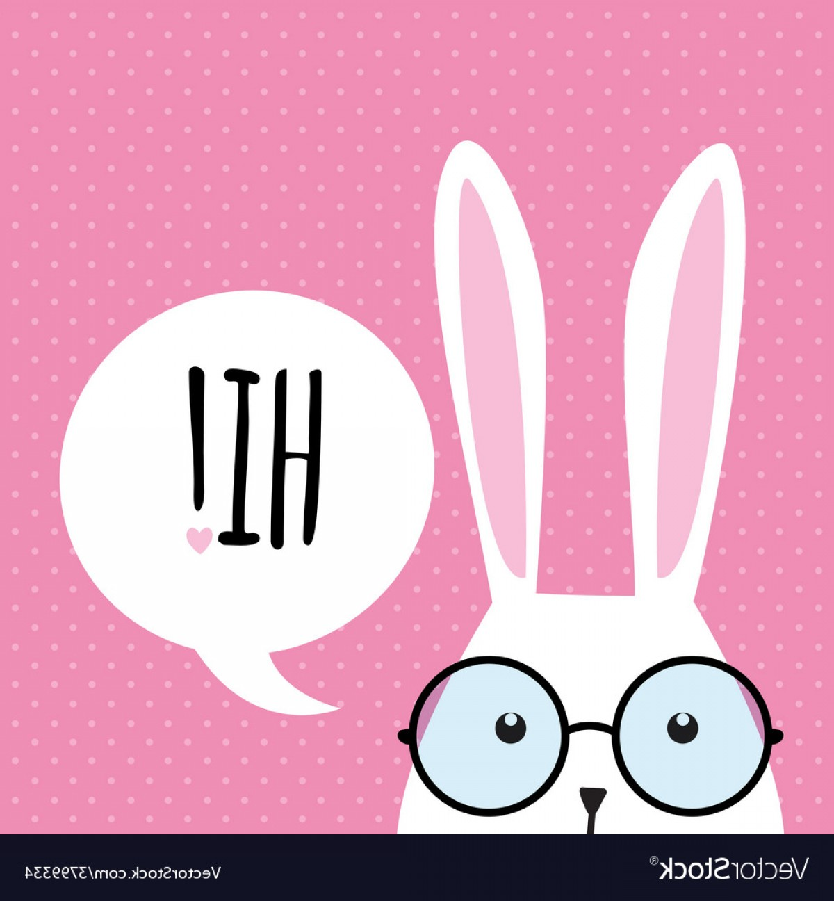 1200x1296 Greeting Card With Funny Bunny Easter Bunny Ears Vector Shopatcloth