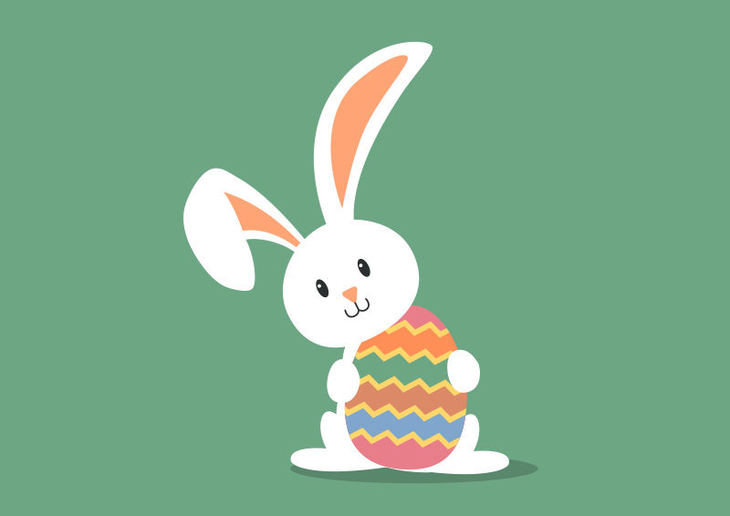 800x566 Easter Bunny Free Vector