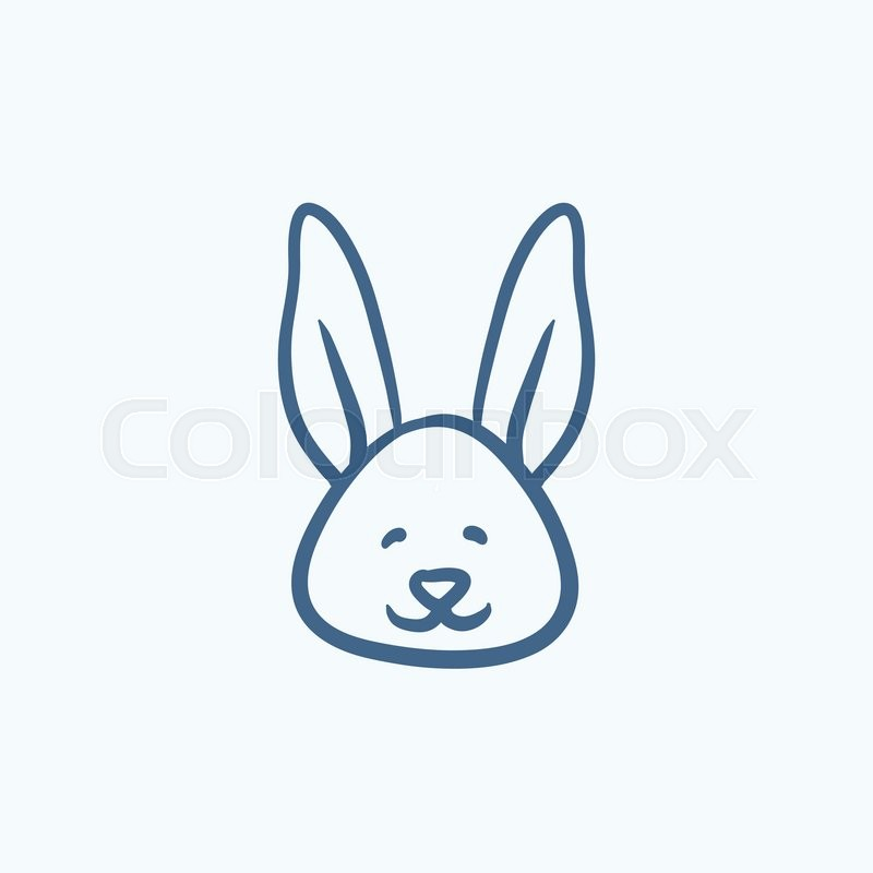 800x800 Easter Bunny Vector Sketch Icon Isolated On Background. Hand Drawn